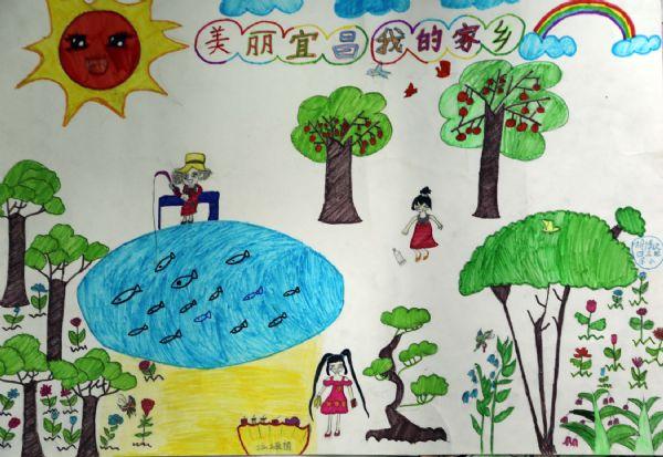 六年级美丽的家乡儿童画_第2页_画画大全图片