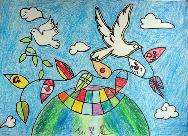 儿童和平海报图片