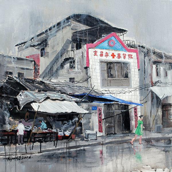 《记录·宜昌—献福路12号》油画丙烯60×60CM 杨明清2016年.JPG