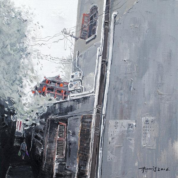 《记录·宜昌—邮政巷02》油画丙烯60×60CM 杨明清2016年.JPG