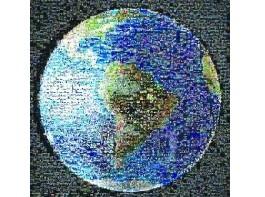 """世界各地1400张挥手照合成""""地球马赛克"""""""