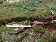 小区地面发生塌陷 居民供气影响不断