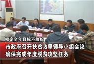市政府召开扶贫攻坚领导小组会议