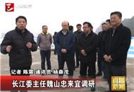长江水利委员会主任魏山忠一行来宜调研