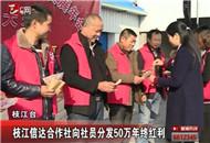 枝江信达合作社向社员分发50万年终红利