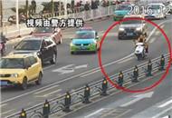 逆行占道横穿 BRT车道监控记录不文明