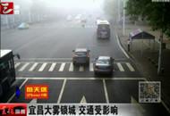 宜昌大雾锁城 能见度低致交通受影响