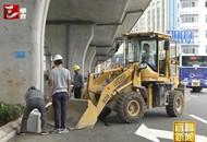 西陵二路快速路辅道施工近尾声 即将通车