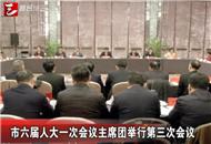 市六届人大一次会议主席团举行第三次会议
