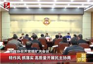 宜昌市政协召开党组扩大会议